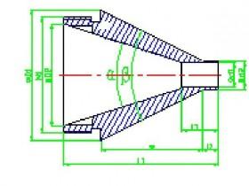 电缆挤出用半挤管式模具的设计